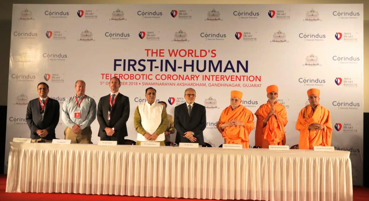 World's-first-in-human-telerobotic-Coronary-intervention-performed-at-Akshardham-Gandhinagar 1